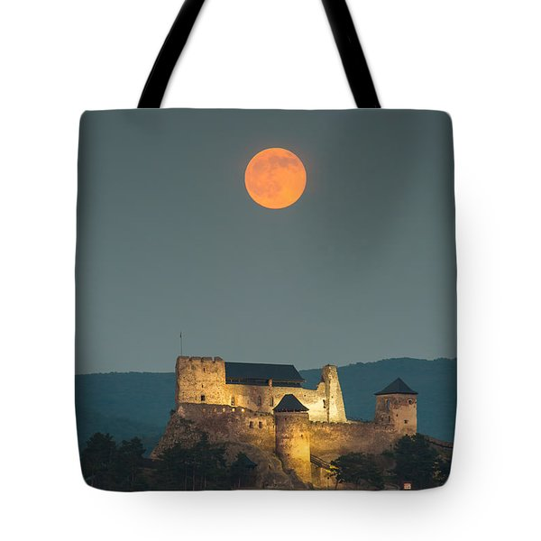 The Castle Of Boldogko At Full Moon Tote Bag