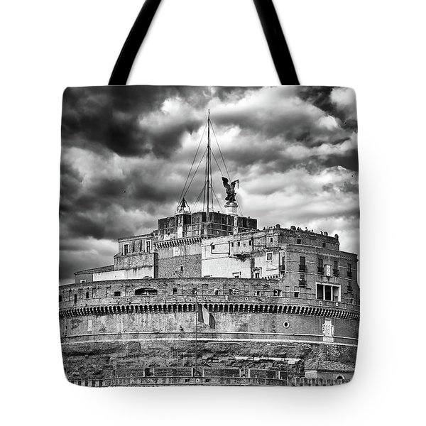 The Castle Of Sant'angelo In Rome Tote Bag