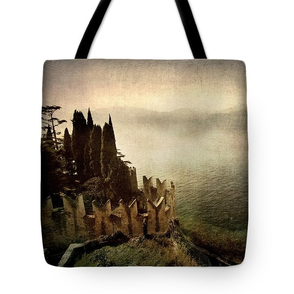 The Castle On The Lake. Malcesine Tote Bag