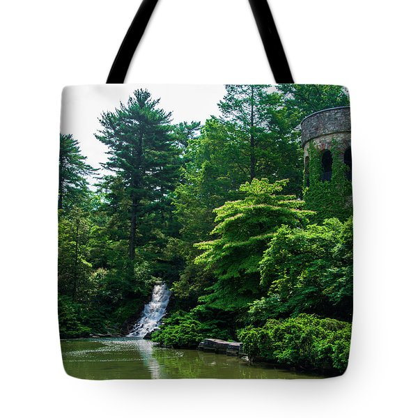 The Castle Tower At Longwood Gardens Tote Bag