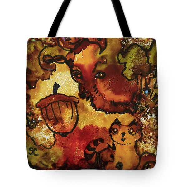 The Cat And The Acorn Tote Bag by Suzanne Canner