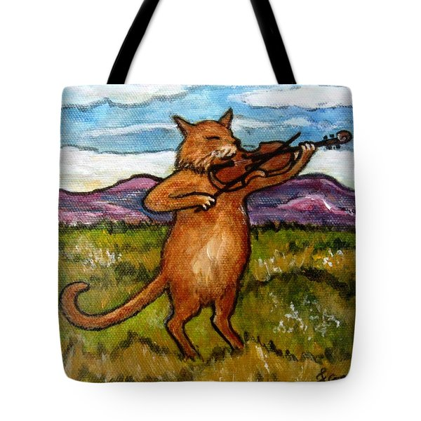 The Cat And The Fiddle Tote Bag by Frances Gillotti