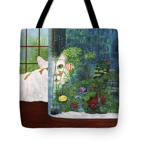 The Cat Aquatic Tote Bag