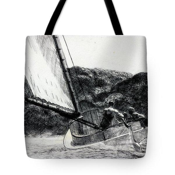 The Cat Boat Tote Bag