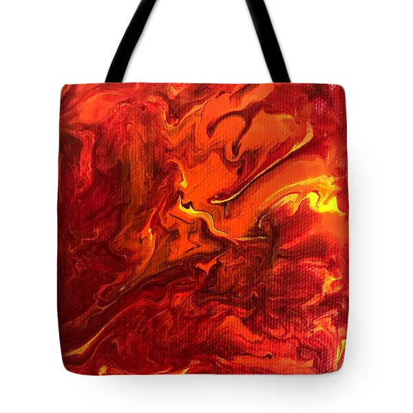 Tote Bag featuring the painting Chimera by Robbie Masso