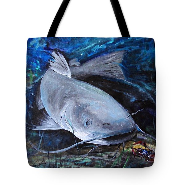 The Catfish And The Crawdad Tote Bag