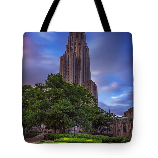 The Cathedral Of Learning Tote Bag