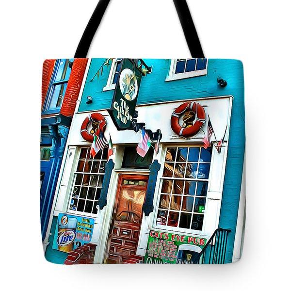 The Cat's Eye Pub Tote Bag