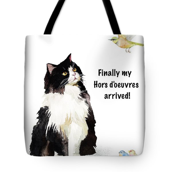 Tote Bag featuring the painting The Cat's Hors D'oeuvres by Colleen Taylor