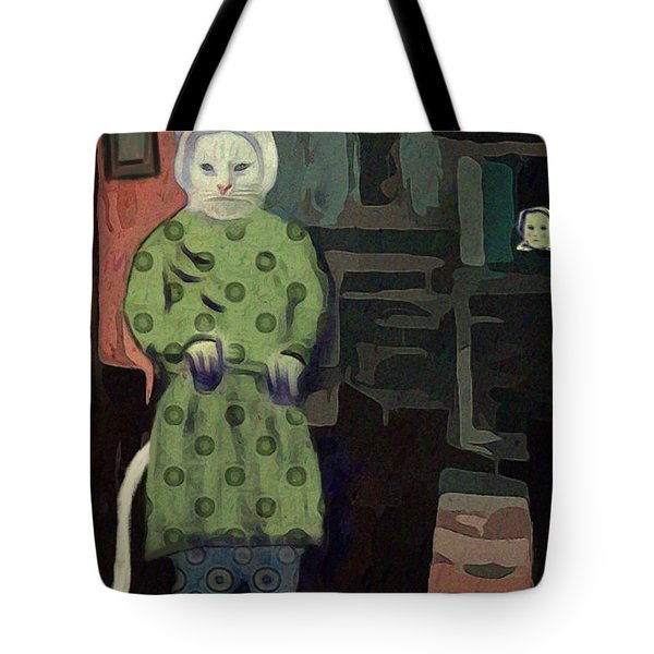 Tote Bag featuring the digital art The Cat's Pajamas by Alexis Rotella