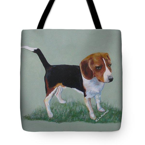 The Cautious Beagle Tote Bag