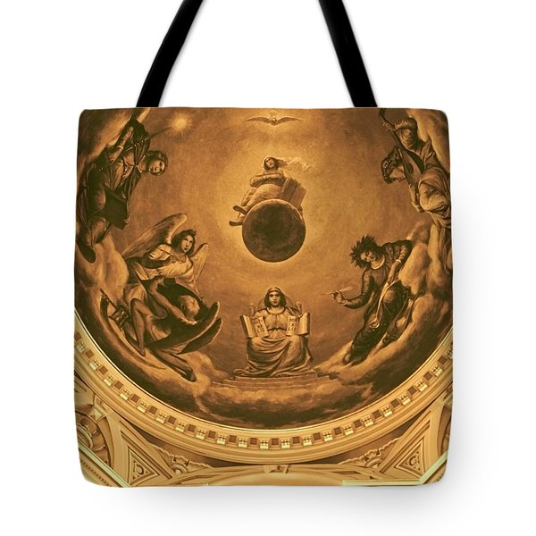 The Ceiling Of Notre Dame University Tote Bag by Dan Sproul
