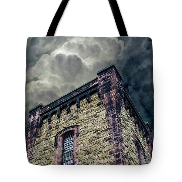Tote Bag featuring the photograph The Cell Block Restaurant by Greg Reed