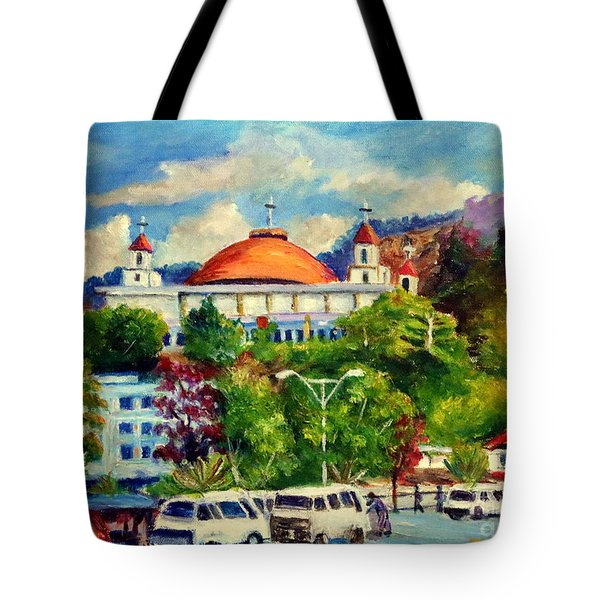 The Central Taxi Terminal In Jayapura Tote Bag
