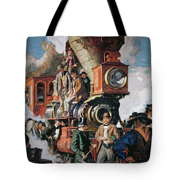The Ceremony Of The Golden Spike On 10th May Tote Bag by Dean Cornwall