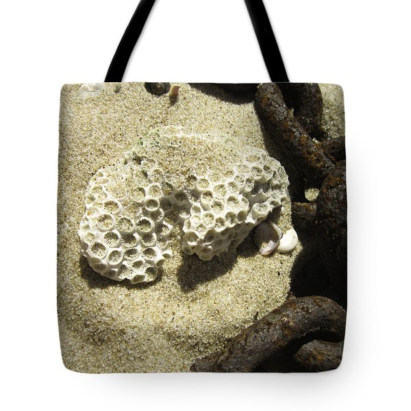 The Chain And The Fossil Tote Bag by Trish Tritz