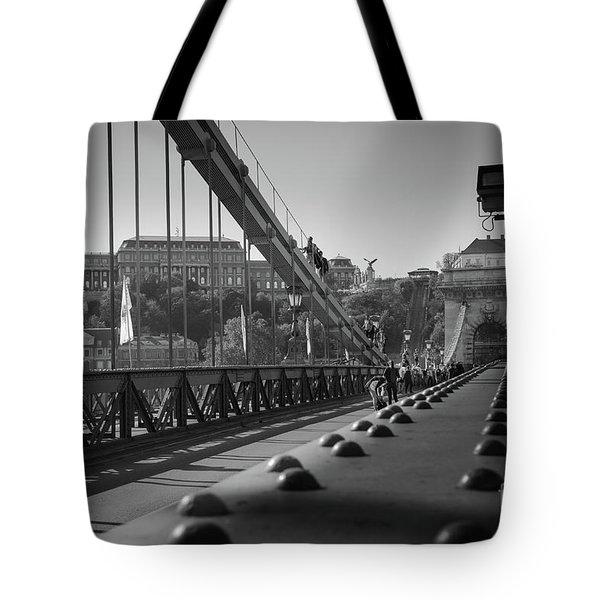 The Chain Bridge, Danube Budapest Tote Bag