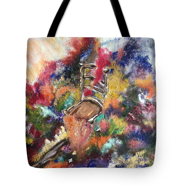Tote Bag featuring the painting The Chair  by Lori Lovetere