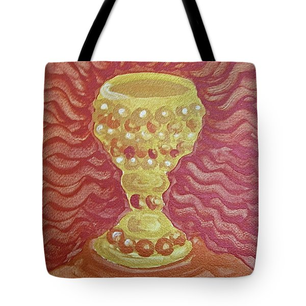 Tote Bag featuring the painting The Chalice Or Holy Grail by Michele Myers