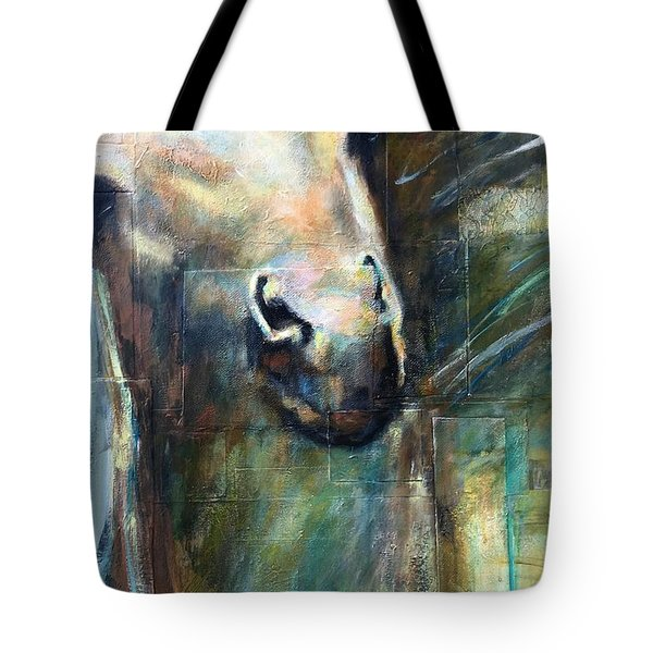 Tote Bag featuring the painting The Chameleon  by Frances Marino