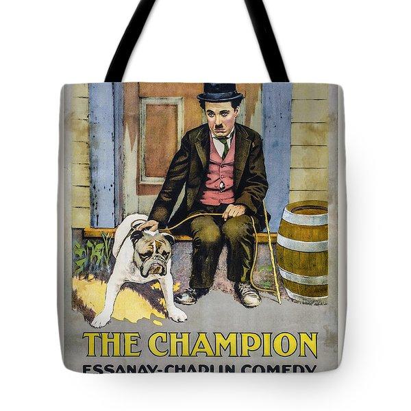 The Champion Chaplin Comedy Tote Bag