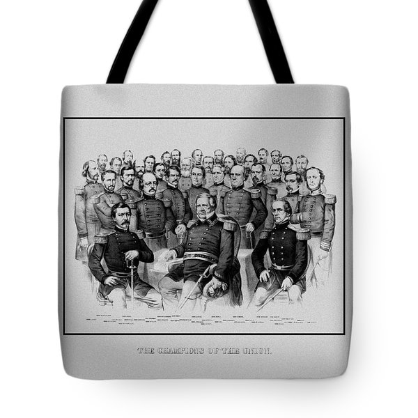 The Champions Of The Union -- Civil War Tote Bag