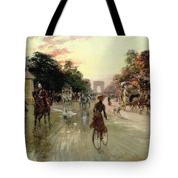 The Champs Elysees - Paris Tote Bag by Georges Stein