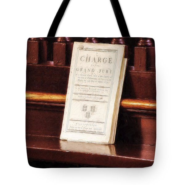 Tote Bag featuring the photograph The Charge  ... by Chuck Caramella