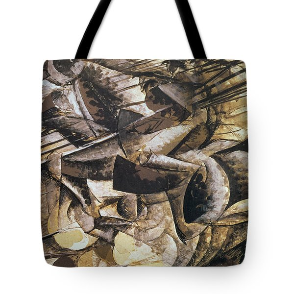 The Charge Of The Lancers Tote Bag by Umberto Boccioni
