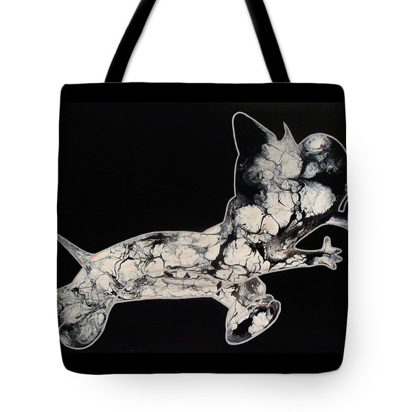 The Chase Bw Tote Bag