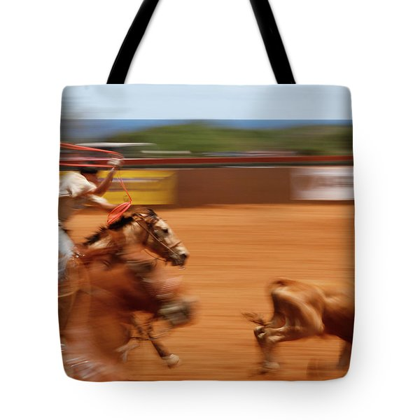 Tote Bag featuring the photograph The Chase by Roger Mullenhour