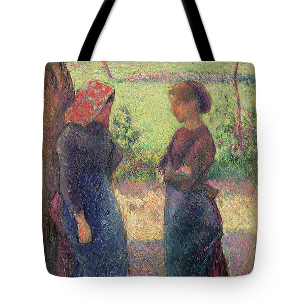 The Chat Tote Bag by Camille Pissarro