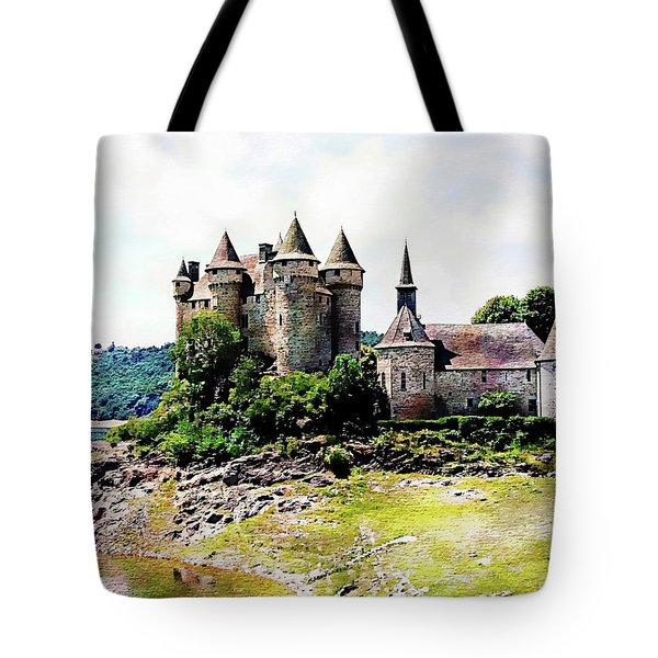 Tote Bag featuring the photograph The Chateau De Val by Joseph Hendrix