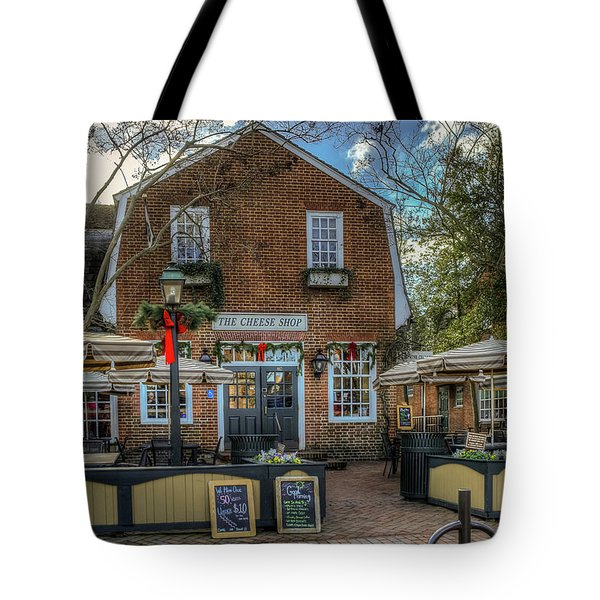 Tote Bag featuring the photograph The Cheese Shop by Jerry Gammon