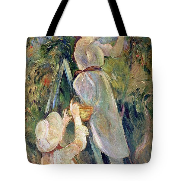 The Cherry Picker Tote Bag by Berthe Morisot