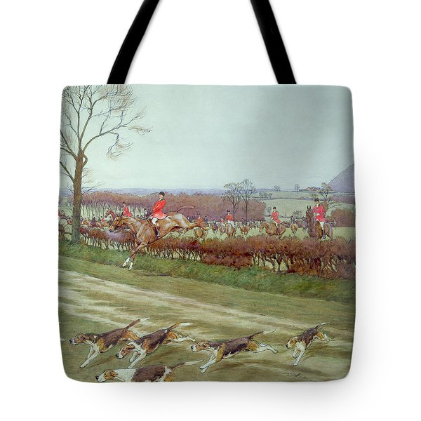 The Cheshire Away From Tattenhall Tote Bag by Cecil Charles Windsor Aldin