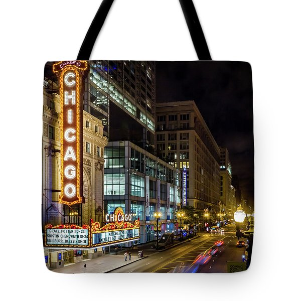 Illinois - The Chicago Theater Tote Bag