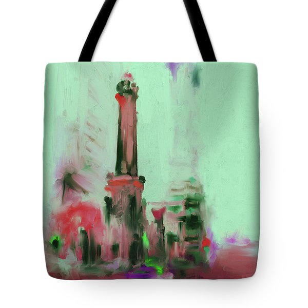 The Chicago Water Tower 535 4 Tote Bag by Mawra Tahreem