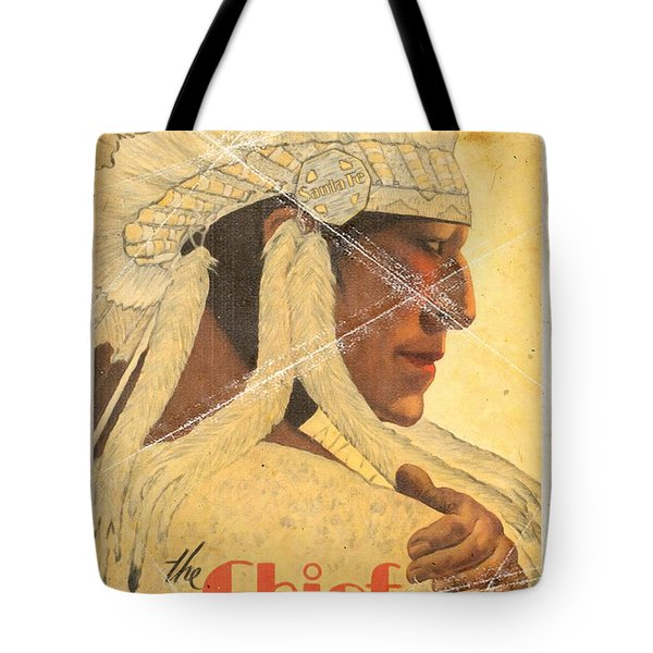 The Chief Train - Vintage Poster Folded Tote Bag