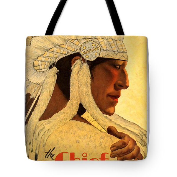 The Chief Train - Vintage Poster Restored Tote Bag