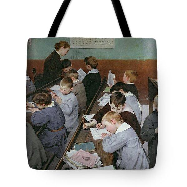 The Children's Class Tote Bag by Henri Jules Jean Geoffroy