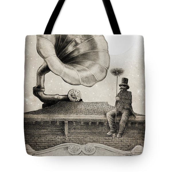 The Chimney Sweep Monochrome Tote Bag