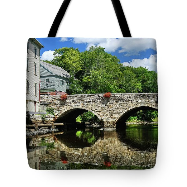 Tote Bag featuring the photograph The Choate Bridge by Wayne Marshall Chase