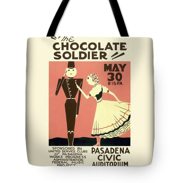 The Chocolate Soldier - Vintage Poster Restored Tote Bag