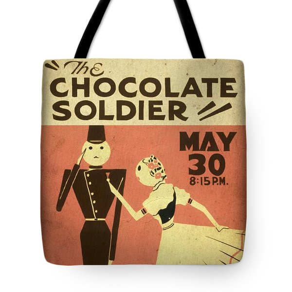 The Chocolate Soldier - Vintage Poster Vintagelized Tote Bag