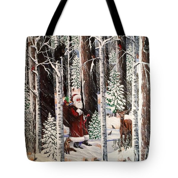The Christmas Forest Visitor Tote Bag