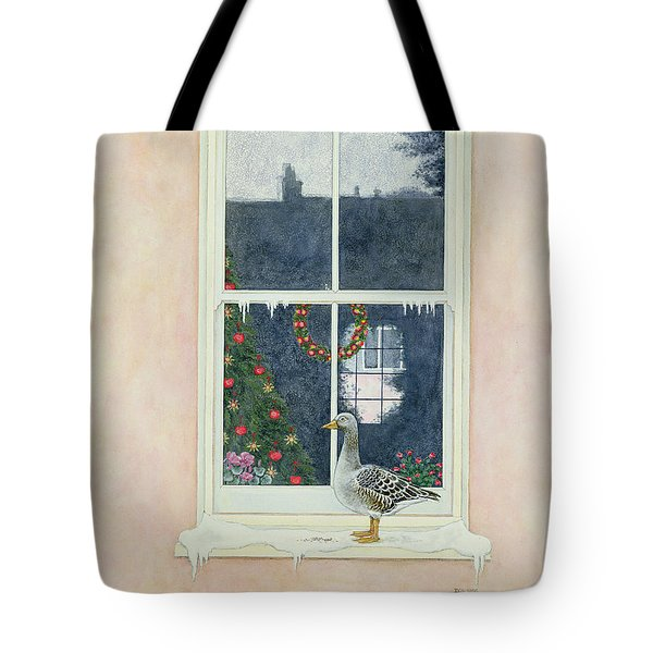 The Christmas Goose  Tote Bag by Ditz