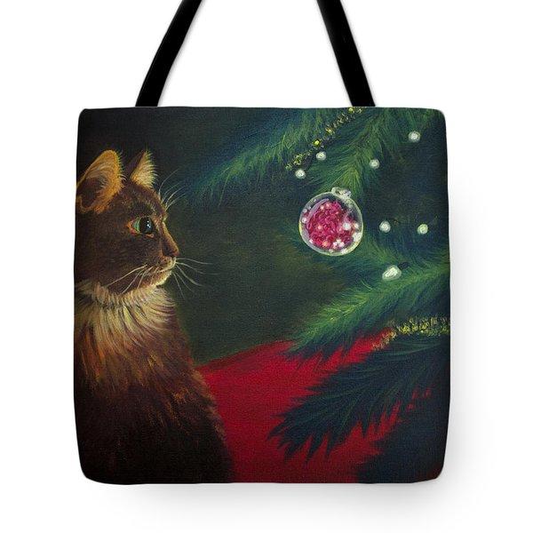 The Christmas Cat Tote Bag