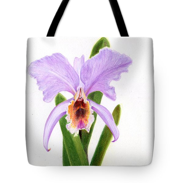 The Christmas Orchid Tote Bag