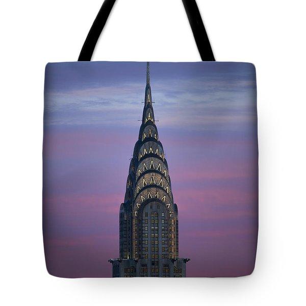 The Chrysler Building At Dusk Tote Bag